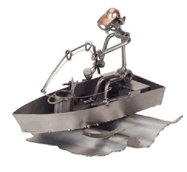 поделки рыбак из металла